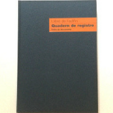 Llibre de l´edifici. Quadern de registre. Índex de documents
